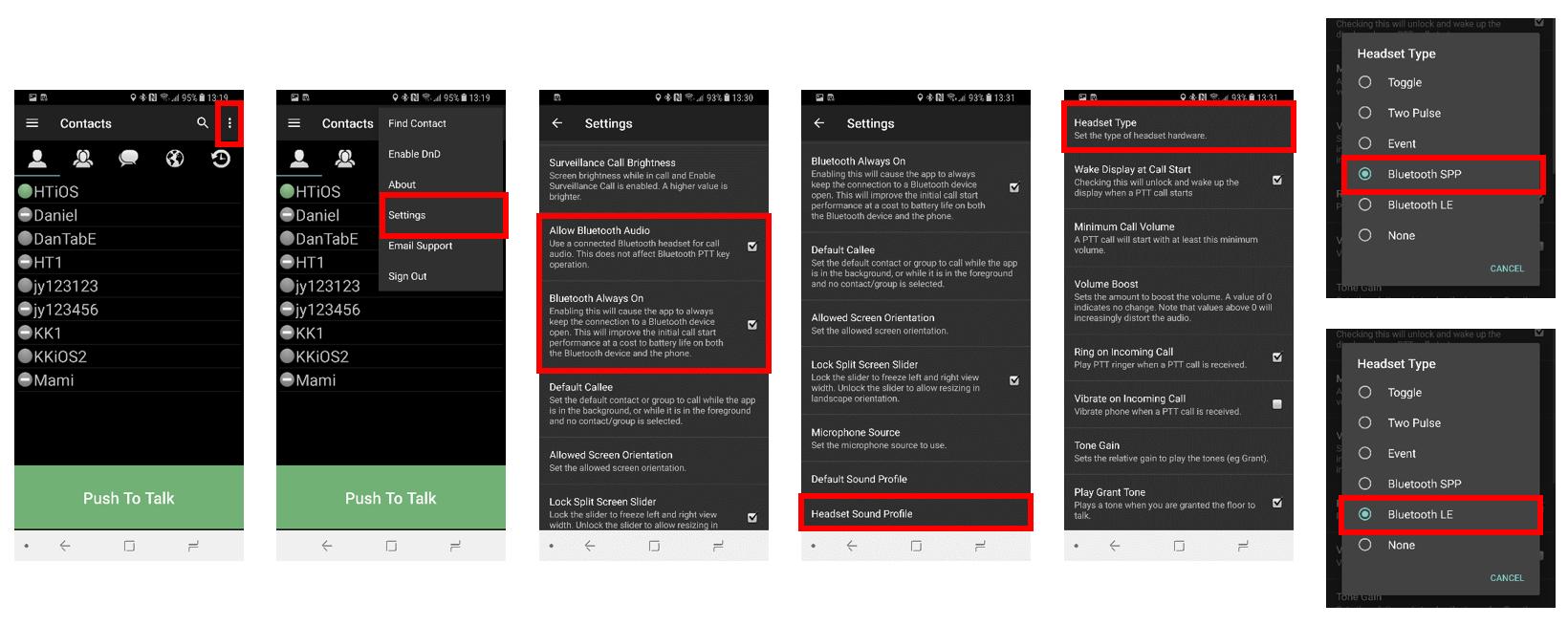 Pairing PTT Voice Responder-Smart Button to ESChat (Android)