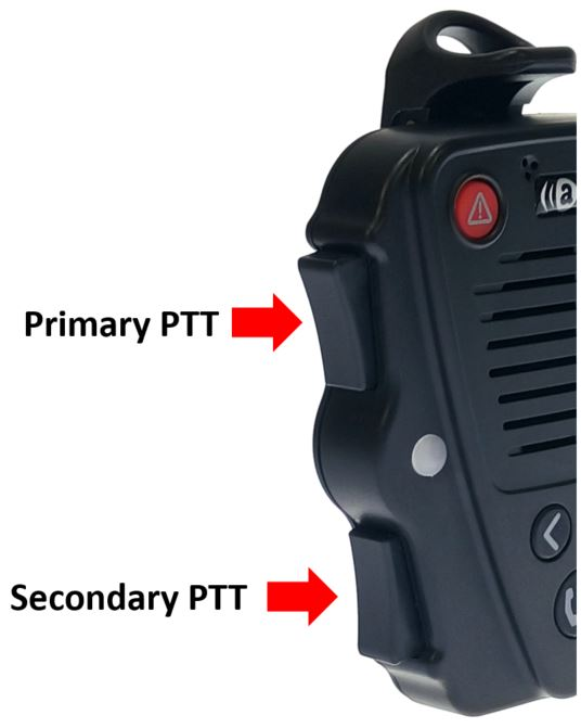 Secondary PTT button
