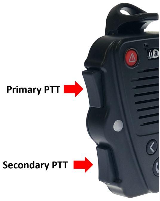 Secondary PTT button